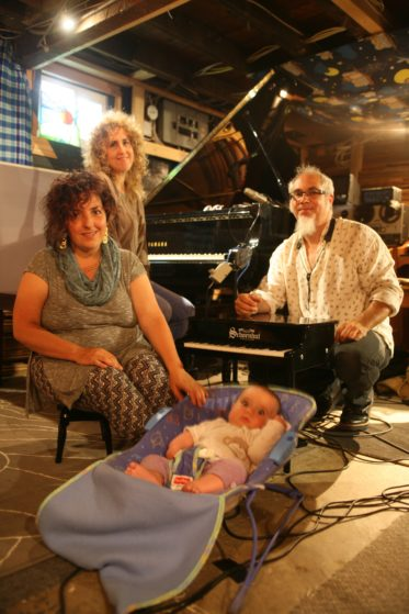 Ayelet, Anat, Erik and baby Maia in the studio